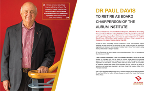 Dr Paul Davis retires as Aurum Chairperson