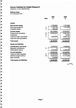 Annual Financial Statements 2007